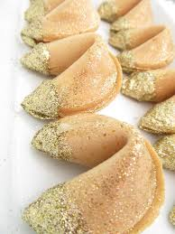 new year s fortune cookies festive gold leaf fortune cookies c h o c o l a t e s s