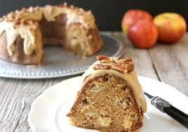 Lake Lure Cottage Kitchen - apple bundt cake with caramel frosting lake lure cottage
