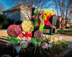 Outdoor Christmas Decorations Lollipops by Miss Kopy Kat Make Big Candy Decorations
