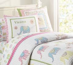 Girls Quilted Bedding by Elephant Vienna Quilted Bedding Pottery Barn Kids Quilts