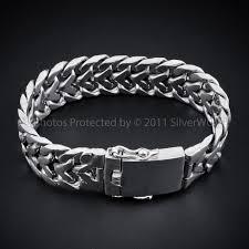 man silver bracelet jewelry images Mens chunky sterling silver quot herringbone quot bracelet jpg