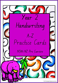 handwriting practice letter word sentence nsw nz pre cursive