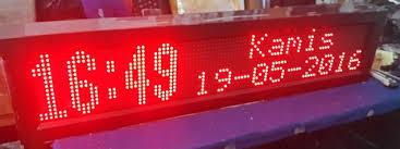 membuat jam digital led besar daftar harga jam digital jadwal sholat murah i 082138816839