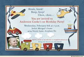 little boy toys birthday invitation helicopter airplane car