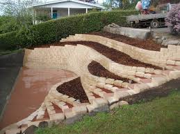 Backyard Hillside Landscaping Ideas Triyae Com U003d Retaining Wall Backyard Slope Various Design