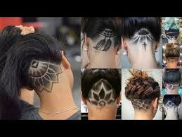 nape of neck hair cut for women nape shaved design women for 2018 2019 trends nape haircut youtube