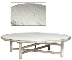 White Painted Coffee Table by White Cottage Style Coffee Table Decagon Shape