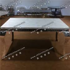 marble and stainless steel dining table china modern marble top stainless steel dining table legs with