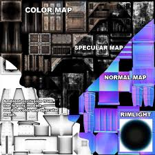 What Is A Normal Map Games Design A 3d Modelling Blog Weapon Modelling Specular Test