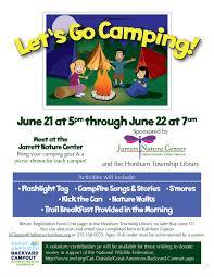 let u0027s go camping jarrett nature center ghcc