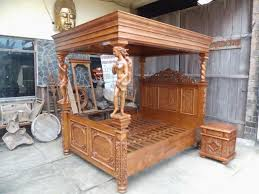 Bedroom Furniture Canopy Bed Custom Made Bedroom Furniture With Wood Carvings From Solid Wood