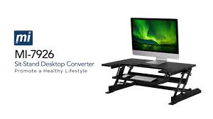 Sit Stand Desk Converter by Sit Stand Workstation Desk Converter With Dual Monitor Mount Combo
