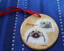 pekingese ornament etsy