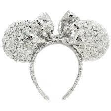 silver headband minnie mouse ear headband silver sequins shopdisney