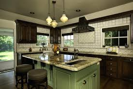 Brown Painted Kitchen Cabinets by Brown Painted Kitchen Cabinets Silver Hardware Looks Like Our