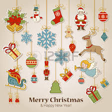 merry christmas and happy new year sticker label decorations