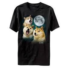 Wolf Shirt Meme - three doge howling meme wolf dog adult t shirt tee walmart com