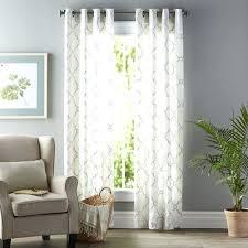 Curtain For Sliding Glass Doors Sheer Curtains Sliding Glass Doors Geometric Semi Grommet Single