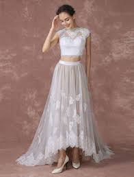 wedding dress high high low wedding dress milanoo