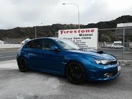 white subaru black rims work wheels new zealand work emotion cr kiwami