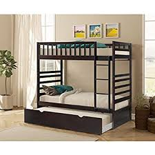 Bunk Beds Trundle Merax Bunk Bed With Trundle In Espresso