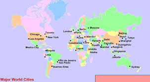 world map major cities map world major cities major tourist attractions maps