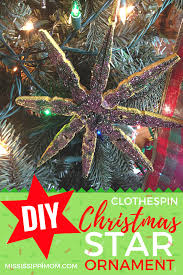 diy clothespin christmas star ornament craft mississippimom com