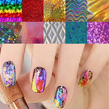 metallic nail foil wraps 10pcs lot nail transfer foils stickers beautiful nail gel