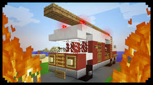 minecraft truck minecraft how to make a fire truck youtube