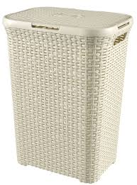 Light And Dark Laundry Hamper by Curver Style 60 L Plastic Laundry Hamper Brown Amazon Co Uk
