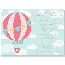 up and away air balloon baby shower invitation the invite