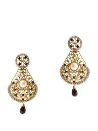 beautiful gold earrings images beautiful and stylish gold earrings with black stones buy online