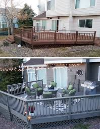 deck decorating ideas fresh paint and string lights deck