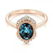 blue topaz engagement rings gold diamond and london blue topaz fashion ring 103173