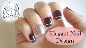 simple and elegant nail design chibi chan youtube
