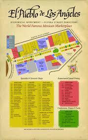 Los Angeles Maps by Map Of Olvera Street L A L A L A I Love L A Too