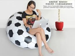 creative home furnishing inflatable sofa childrens soccer ball