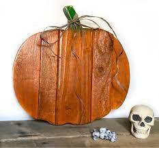 halloween primitive decor wooden pumpkin decor rustic fall decor wood pumpkin door