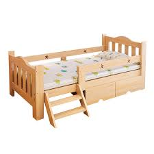 solid wood children u0027s bed with fence simple moder student single