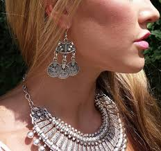 big earing new tribal statement earrings jewelry ethnic vintage silver