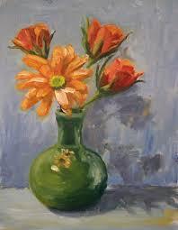 Acrylic Flower Vases Hudson Valley Painter Blog Archive Green And Orange U2014vase Of