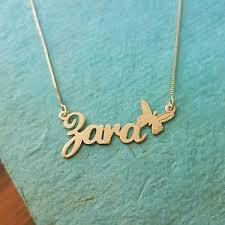 necklace with name ebay images Butterfly necklace gold pendant my name necklace gold jpg