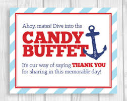 Baby Shower Candy Buffet Sign by Printable 5x7 8x10 Ahoy Mates Nautical Anchor U0027s