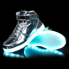 gold light up sneakers aliexpress com buy usb charging size 36 46 glowing luminous