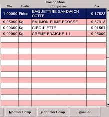 fiche technique de cuisine logiciel de restaurant logiclass fiches techniques contrôle