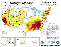 Uga Map Water At Uga November 22 2016 Drought Monitor Update