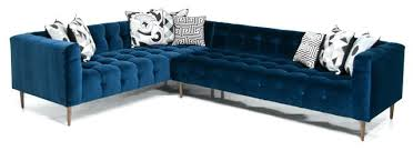 Blue Velvet Sectional Sofa Beautiful Navy Blue Velvet Sofa For Blue Velvet Sofa Or Midnight