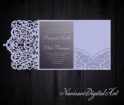 tri fold wedding invitations template tri fold ornamental 5x7 wedding invitation pocket envelope svg