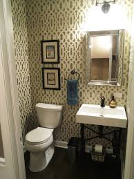 Bathroom Powder Room Ideas Designer Adds Personal Touch To Floor Powder Room
