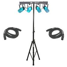stage lighting tripod stands 4playcl beam effect stage led chauvet light bar with 2 dmx cables